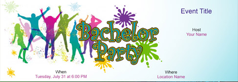online Bachelor Party invitation
