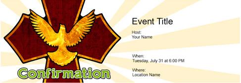 online Confirmation invitation