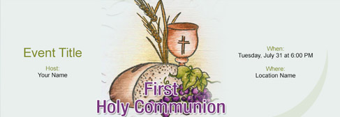 online First Holy Communion invitation