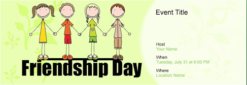 Free Friendship Day invitation with India's #1 online tool
