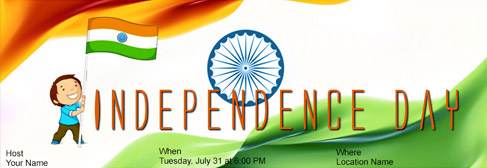 online Independence Day invitation