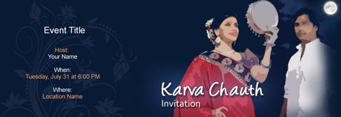 online Karva Chauth invitation