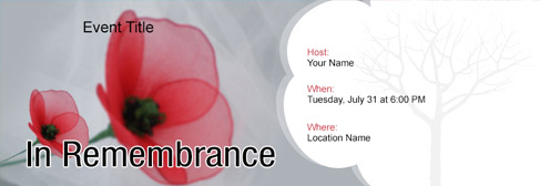 online Memorial / Remembrance  invitation