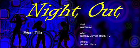 online Night out invitation