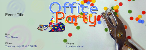 online Office Party invitation