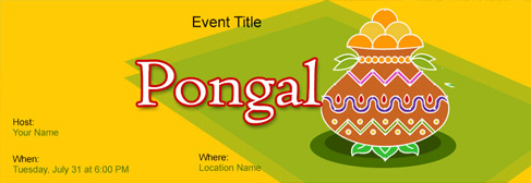 Free Pongal Invitation With India S 1 Online Tool