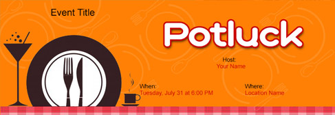 Free Potluck invitation with India's #1 online tool