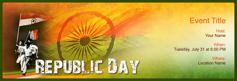 online Republic Day invitation