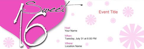 online Sweet 16 invitation