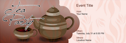 online Tea Party invitation