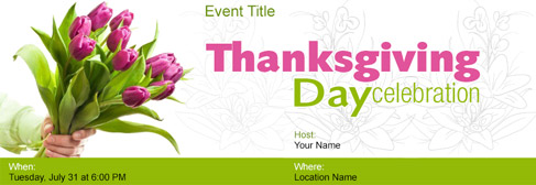 online Thanksgiving Day invitation