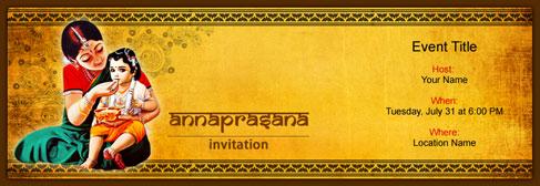 online Annaprasana invitation