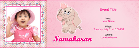 Free Baby Naming Namakaran invitation with Indias 1 online tool – Naming Ceremony Invitation Template
