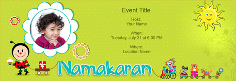 Online Baby Naming / Namakaran Invitation