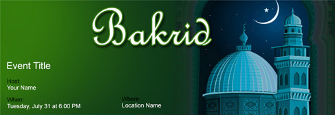 online Bakrid invitation