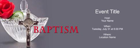 online Baptism invitation