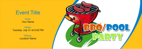 online BBQ/Pool Party invitation