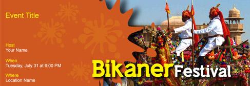 online Bikaner Festival invitation