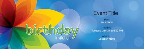 online Birthday invitation