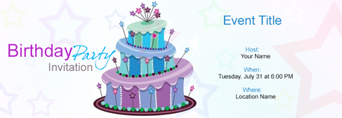 online Birthday invitation