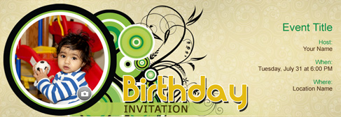 online Birthday for Kids invitation