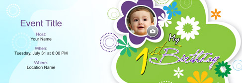 Free Birthday Invitation With Indias Online Tool - First birthday invitations girl online