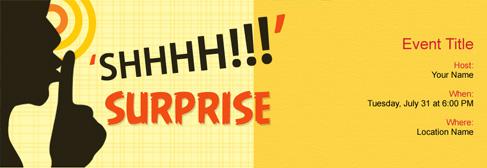 online Surprise Party invitation