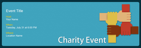 online Charity Event invitation