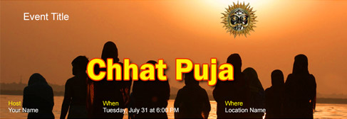 Free Chhath Puja Invitation With India S 1 Online Tool