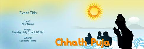 online Chhath Puja invitation