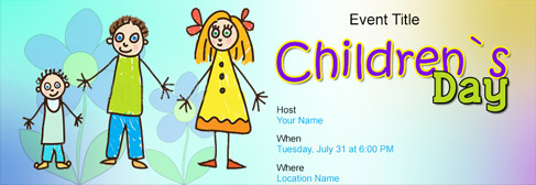 online Children`s Day invitation