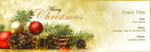 online Christmas invitation