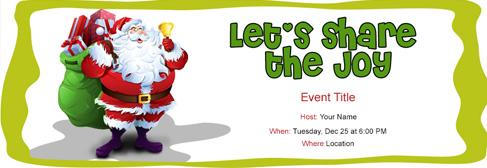 online Christmas invitation