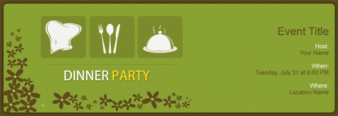 online Dinner Party invitation