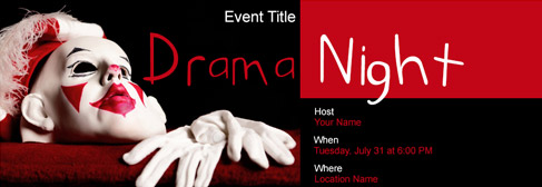 online Drama/Naatak Night invitation