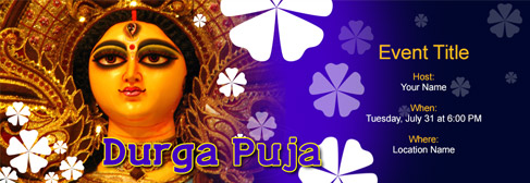 online Durga Puja invitation