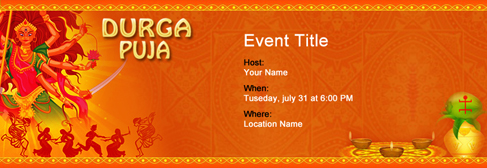 Free Navratri Festival invitation with India's #1 online tool