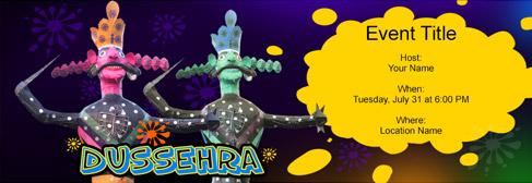 online Dussehra invitation