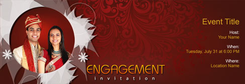 Online Engagement Invitation  Engagement Invitations Online Templates