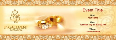 Free engagement invitation with indias 1 online tool online engagement invitation stopboris Image collections