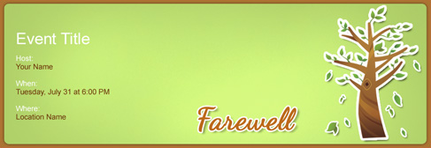 online Farewell invitation