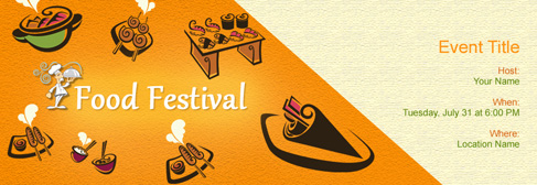 online Shopping/Food Festivals invitation