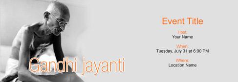 online Gandhi Jayanti invitation