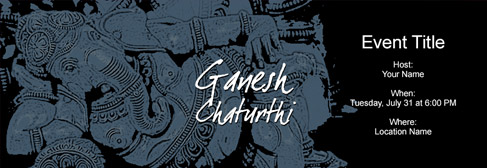 online Ganesh Chaturathi invitation