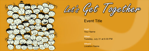 High Quality Online Get Together Invitation