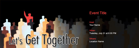 online Get Together invitation
