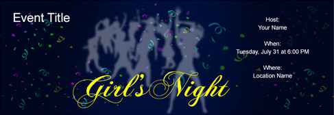 online Girl's Night invitation