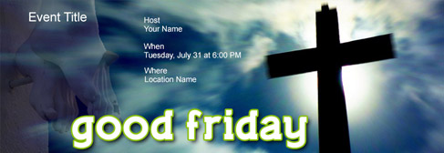 online Good Friday invitation