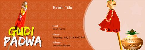 online Gudi Padwa invitation