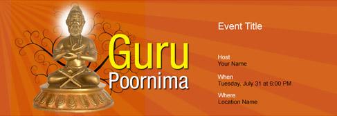 online Guru Poornima invitation